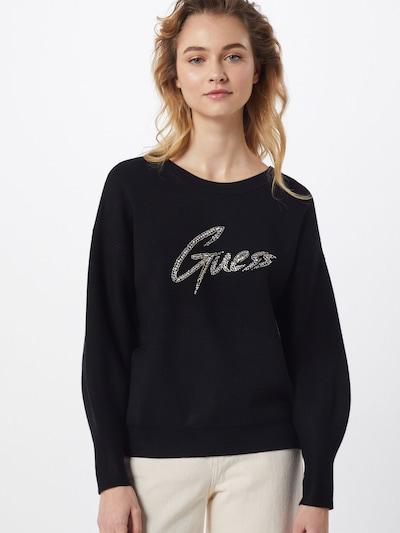 GUESS Pullover 'LOLA' in schwarz / silber, Modelansicht