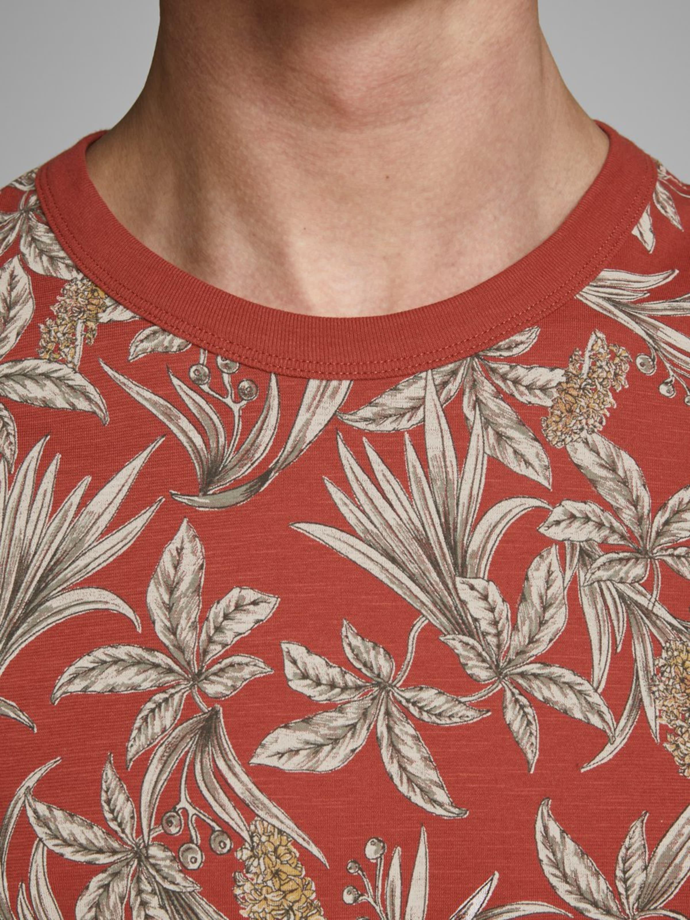 Jones Jackamp; T shirt Karminrot In Alloverprint n0vNOmw8