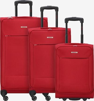 Nowi Kofferset in de kleur Rood: Vooraanzicht