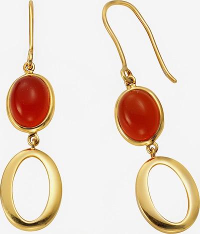 Jamelli Ohrringe in gold / dunkelorange, Produktansicht