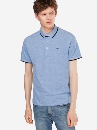 JACK & JONES T-Krekls 'JJEPAULOS POLO SS', krāsa - debeszils / tumši zils, Modeļa skats