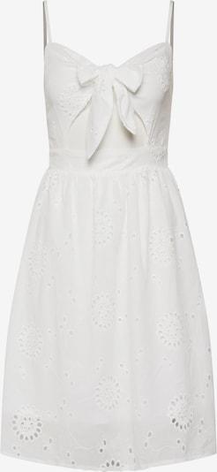 Missguided Sommerkleid 'Tie Front Broderie' in weiß, Produktansicht