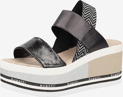 bugatti Sandalen in schwarz / weiß, Produktansicht