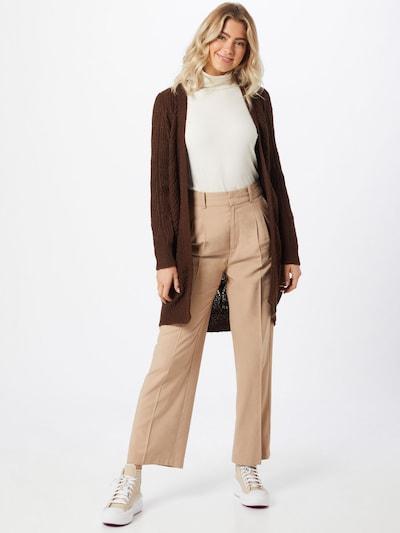 OBJECT Strickjacke in braun, Modelansicht