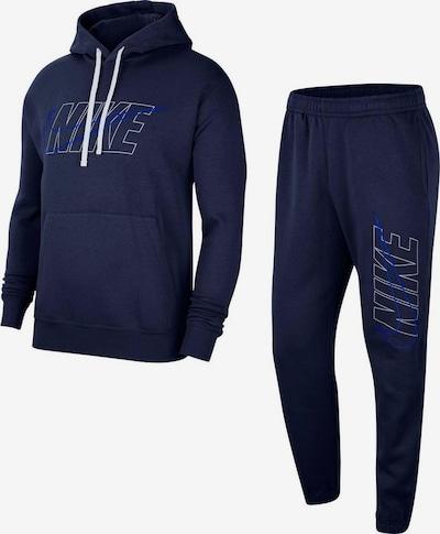 Nike Sportswear Jogginganzug in marine / weiß, Produktansicht
