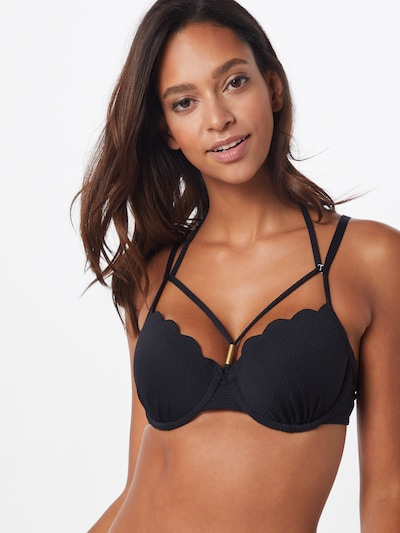 Hunkemöller Bikini top 'Scallop' in Black, View model