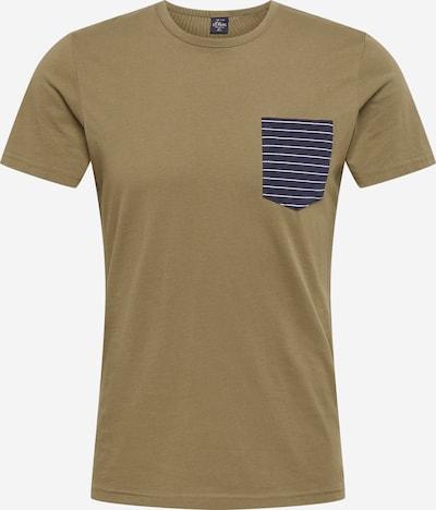 s.Oliver T-Shirt in navy / khaki / weiß, Produktansicht