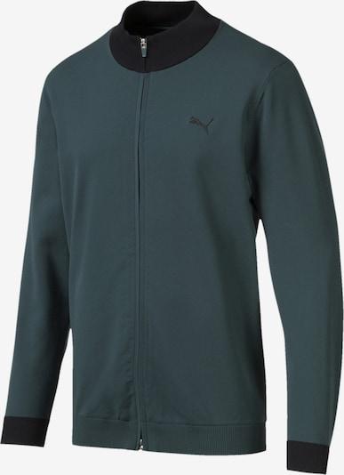 PUMA Sportsweatvest in de kleur Groen / Zwart, Productweergave