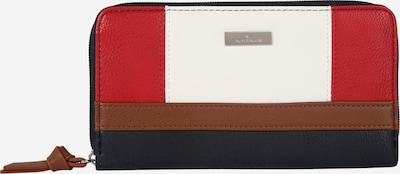 TOM TAILOR Novčanik 'Juna' u plava / crvena / bijela: Prednji pogled