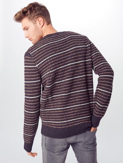 GAP Sweter 'TXTR STRP CREW' w kolorze szarym: Widok od tyłu