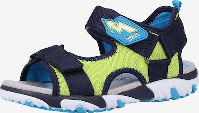 SUPERFIT Sandale in nachtblau / apfel / mischfarben, Produktansicht