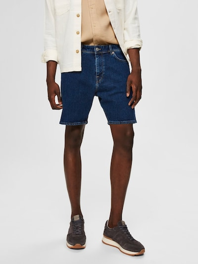 SELECTED HOMME Komfortstretch Jeansshorts in blau: Frontalansicht