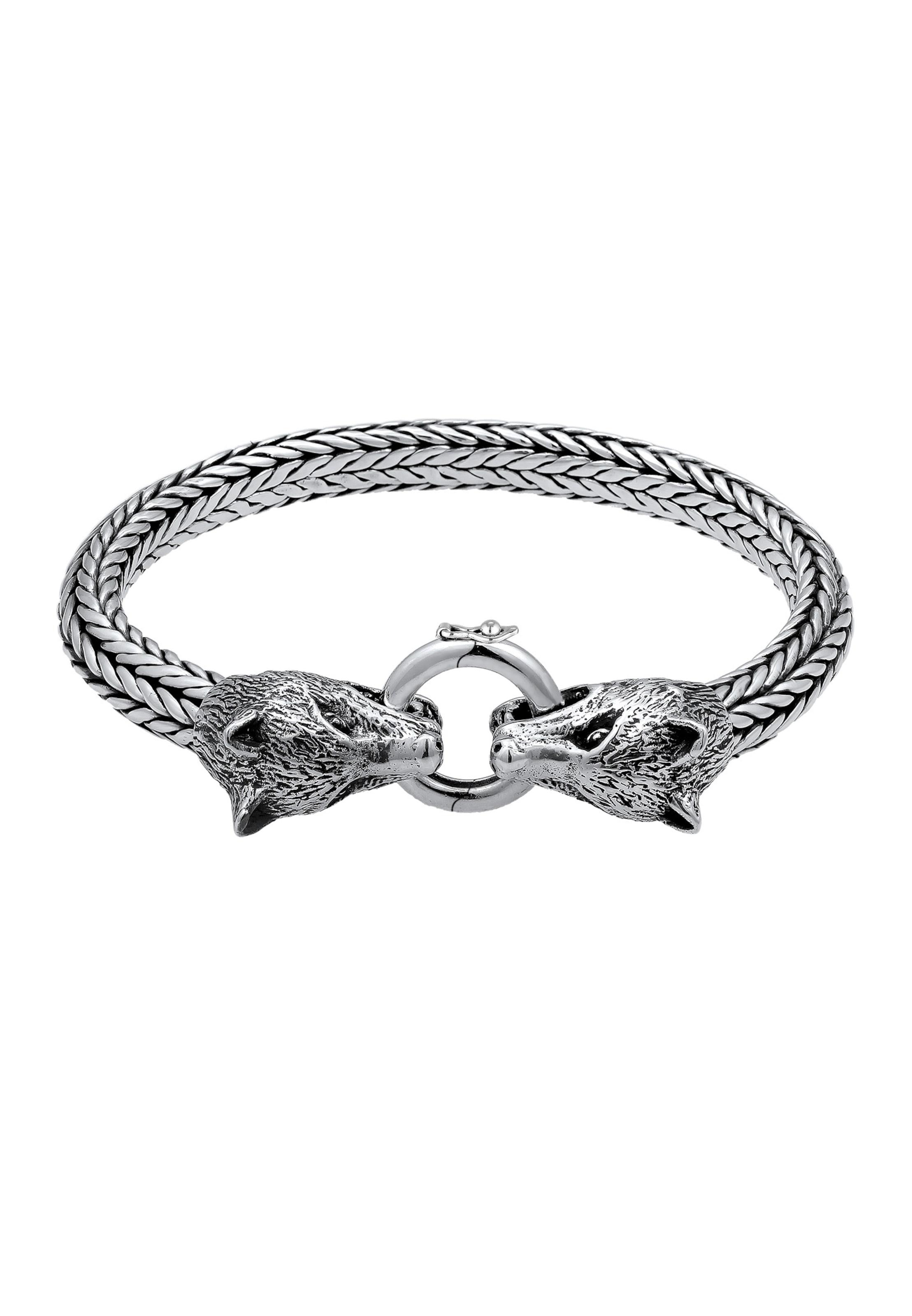 Kuzzoi In Kuzzoi Silber Armband 'wolf' 'wolf' Armband OkwlPZuXTi