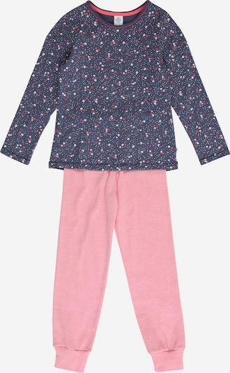 SANETTA Pyjama en indigo / rose / rose clair / blanc, Vue avec produit