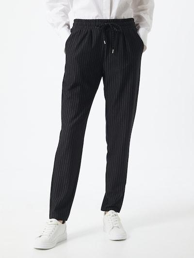 Q/S designed by Kalhoty se sklady v pase - černá / bílá, Model/ka