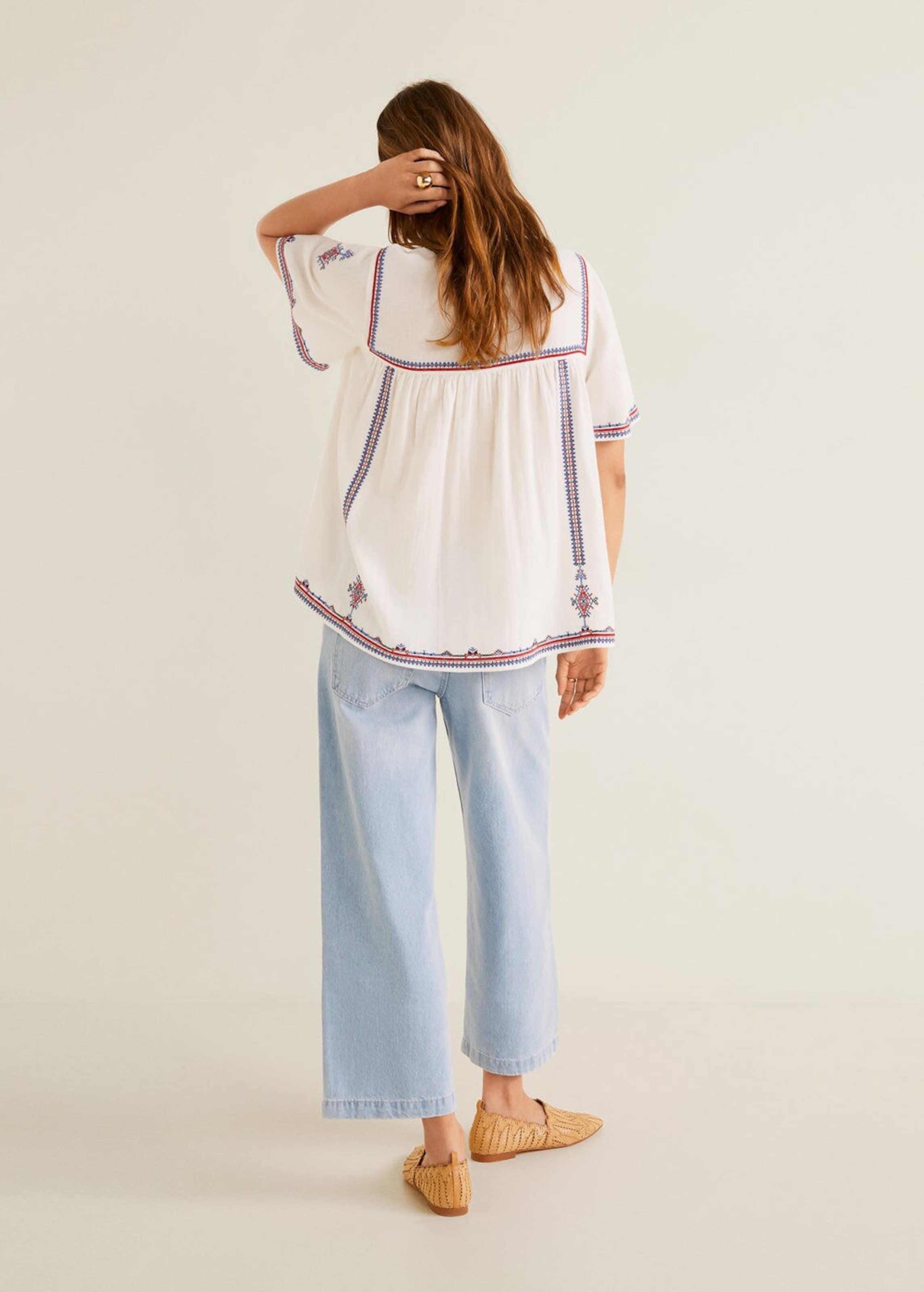 'indigo' In Mango Hemd Weißmeliert BlauRot T1Jc5lF3uK