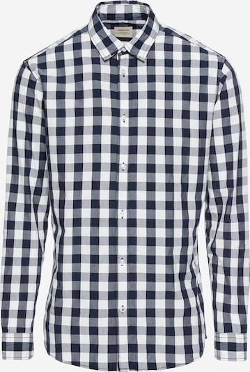 JACK & JONES Hemd 'JJEGINGHAM SHIRT L/S' in nachtblau / weiß, Produktansicht