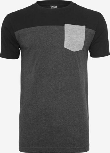 Urban Classics T-Shirt in hellgrau / dunkelgrau / schwarz, Produktansicht