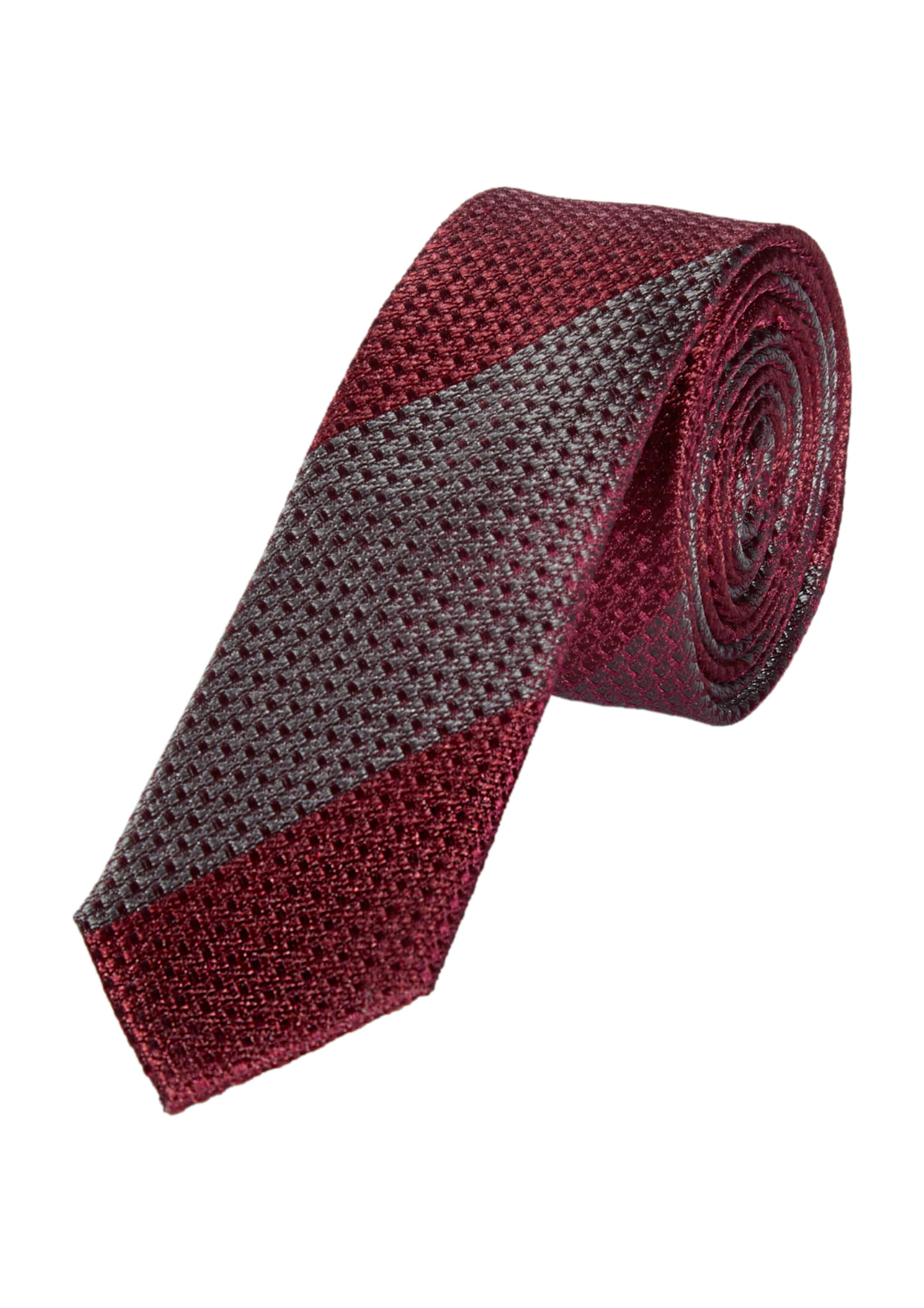 In S Krawatte DunkelgrauWeinrot Black Label oliver OnwkXP80