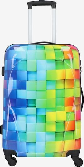 Nowi Trolley in blau / hellblau / gelb / hellgrün / lila, Produktansicht