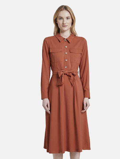 TOM TAILOR DENIM Kleid in dunkelorange, Modelansicht