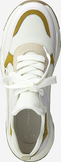 MARCO TOZZI Baskets basses en jaune foncé / greige / blanc: Vue de dessus