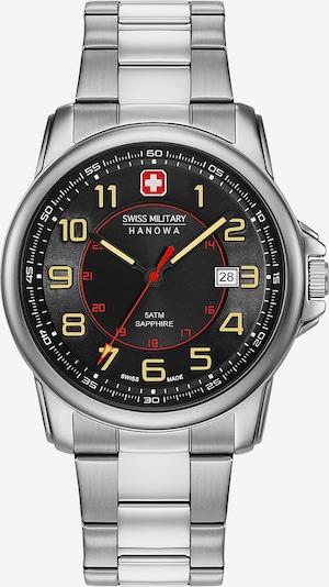 SWISS MILITARY HANOWA Uhr in gelb / rot / schwarz / silber, Produktansicht