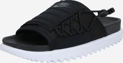 Saboți 'City' Nike Sportswear pe negru / alb, Vizualizare produs