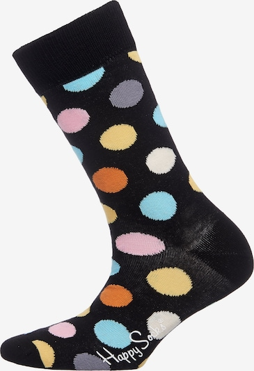 Happy Socks Socke 'Big Dot' in blau / gelb / schwarz, Produktansicht
