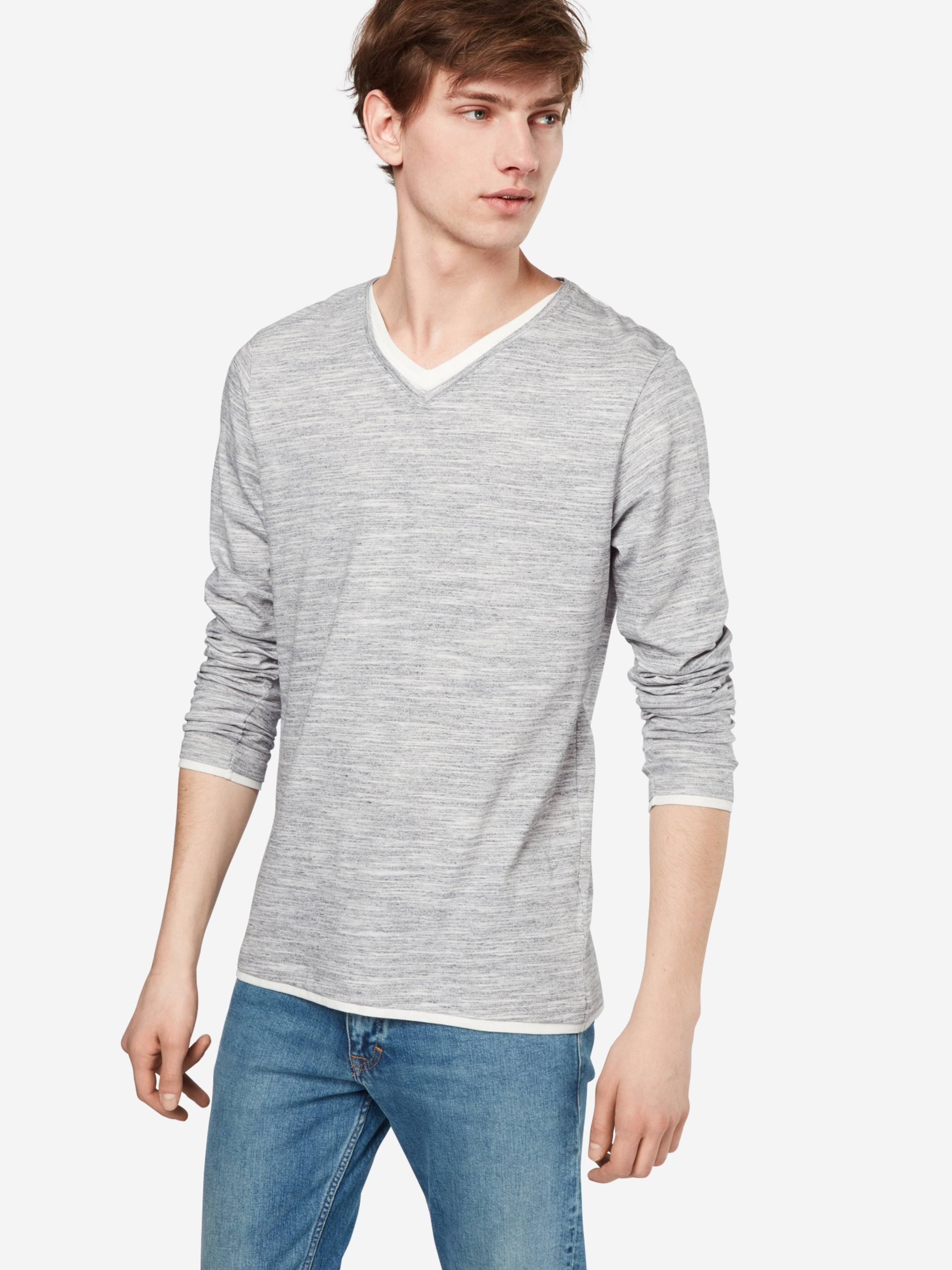 ESPRIT Langarmhirt im Layer-Look