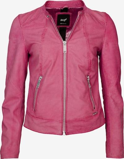 Maze Lederjacke mit Rundhalskragen ' Avoca ' in pink, Produktansicht