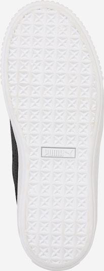 PUMA Sneaker 'Platform Kiss' in schwarz / weiß: Ansicht von unten