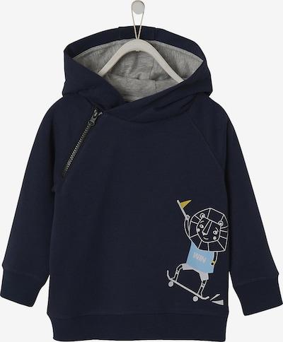 VERTBAUDET Sweatshirt in navy / hellblau / weiß: Frontalansicht