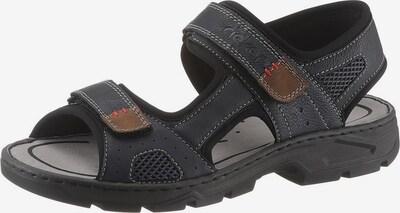 RIEKER Sandale in taubenblau / ocker / schwarz, Produktansicht