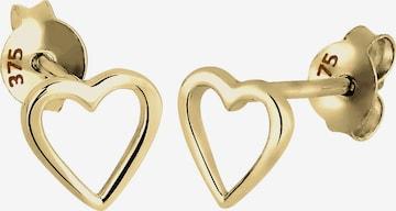 ELLI PREMIUM Earrings 'Herz' in Gold