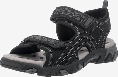 SUPERFIT Sandalen 'Hike' in grau / schwarz: Frontalansicht