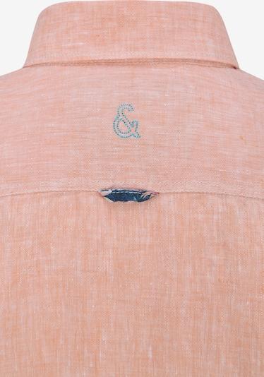 COLOURS & SONS Langarmhemd Leinenhemd 'LIAM' in orange / rot, Produktansicht