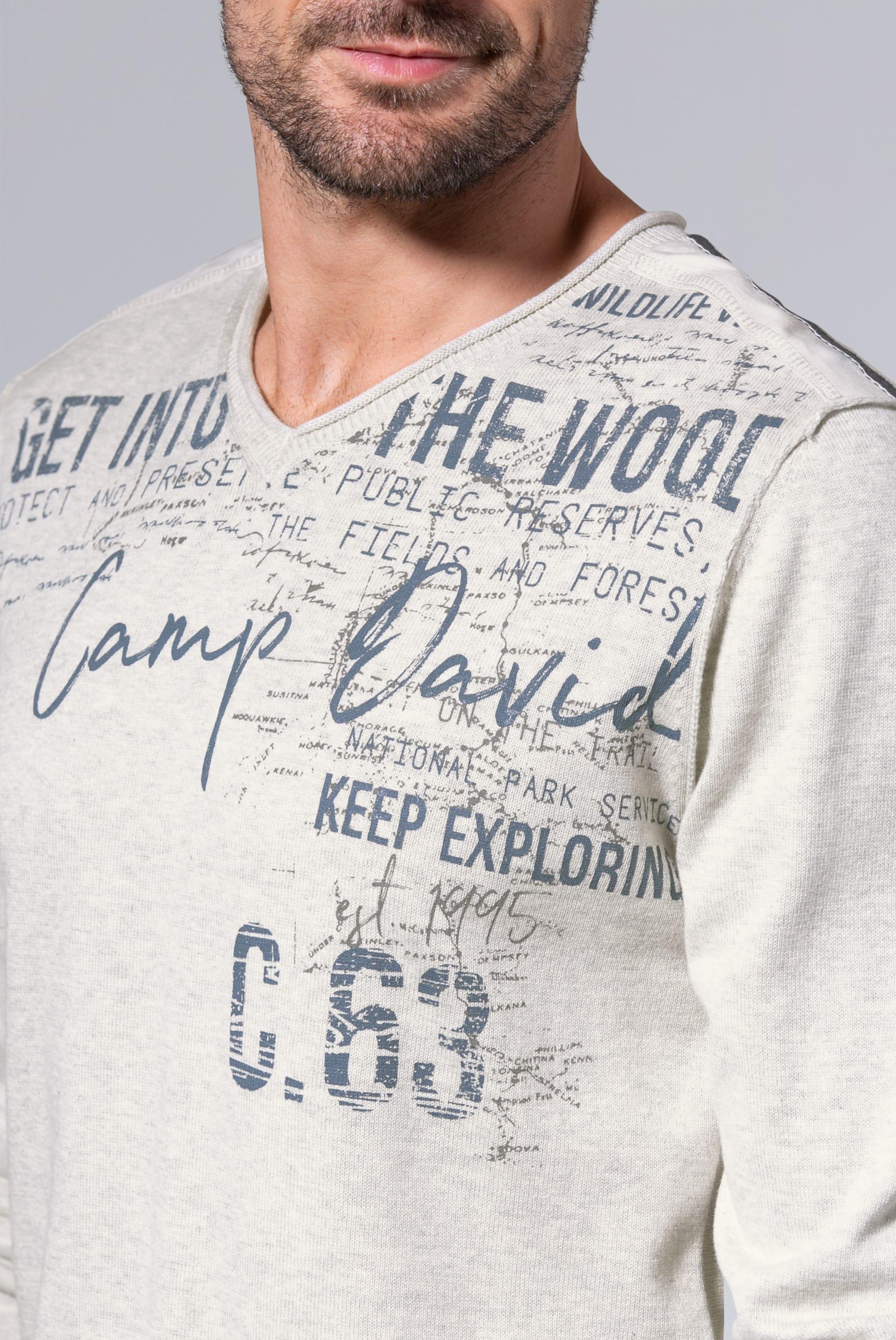 David In Beige Camp In Pullover Pullover David Camp 0wkZP8nNOX