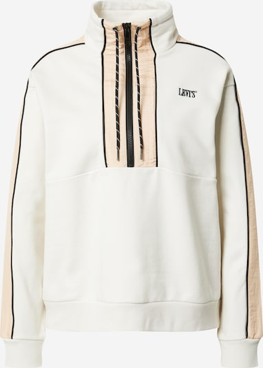 LEVI'S Sweatshirt 'Ginger' in beige / hellbeige / schwarz: Frontalansicht