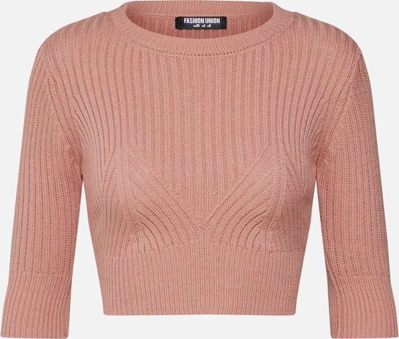 Fashion Union Pullover 'BANANA' in rosa, Produktansicht
