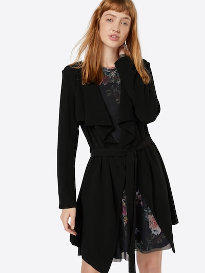 OBJECT Manteau mi-saison 'OBJAnnlee' en noir, Vue avec modèle