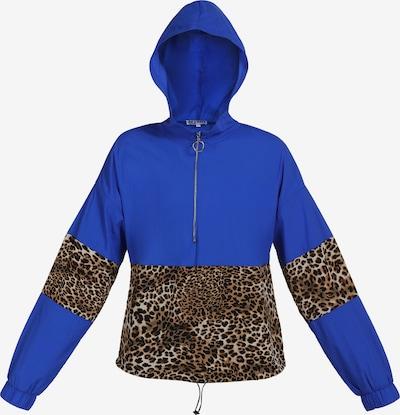 myMo ATHLSR Jacke in beige / blau / braun / hellbraun, Produktansicht