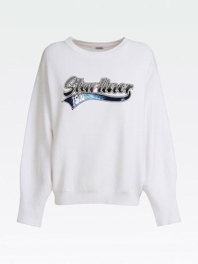 GUESS Pullover in blau / silber / weiß, Produktansicht