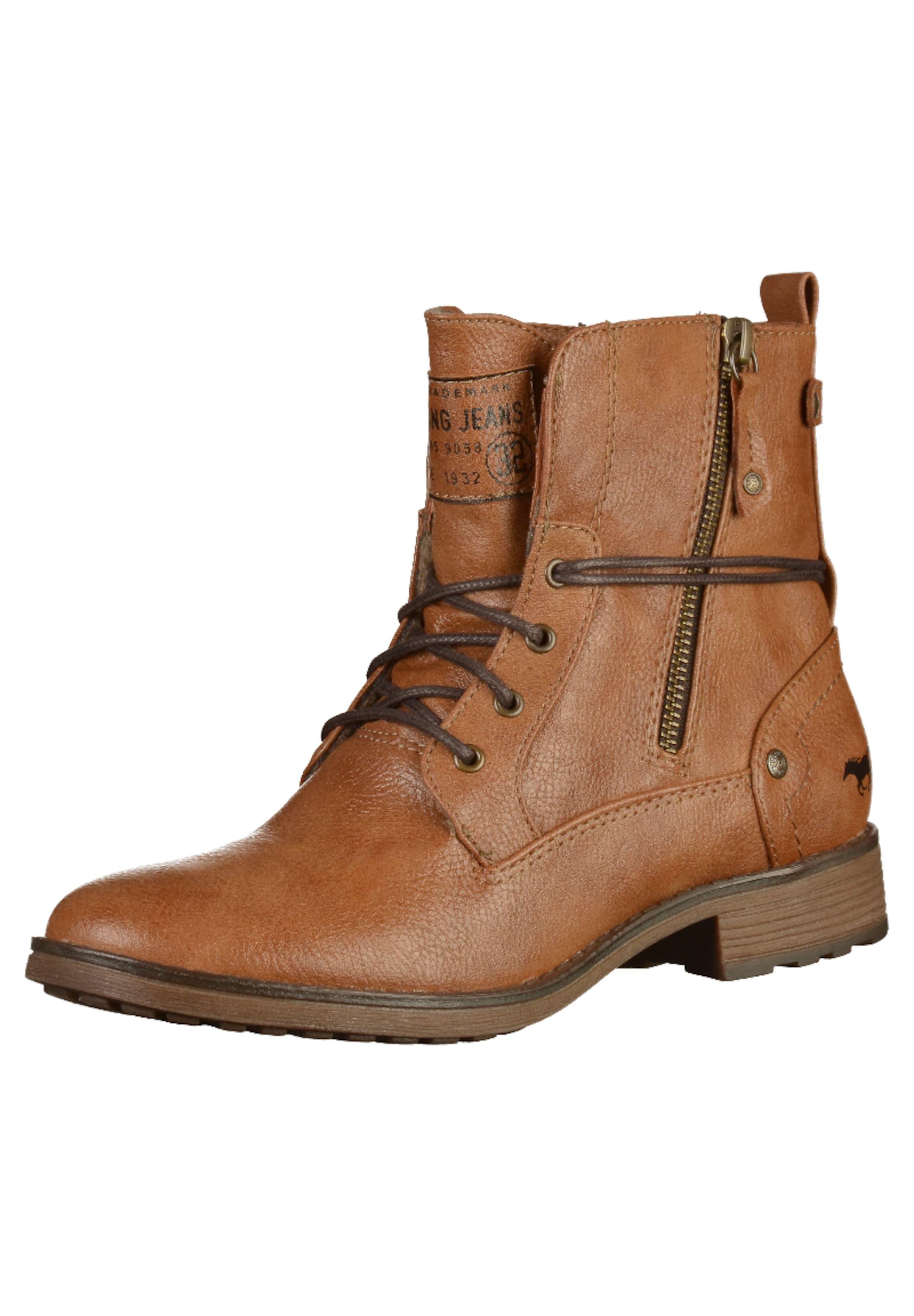 MUSTANG Schnürstiefeletten im Leder-Look Günstige und langlebige Schuhe
