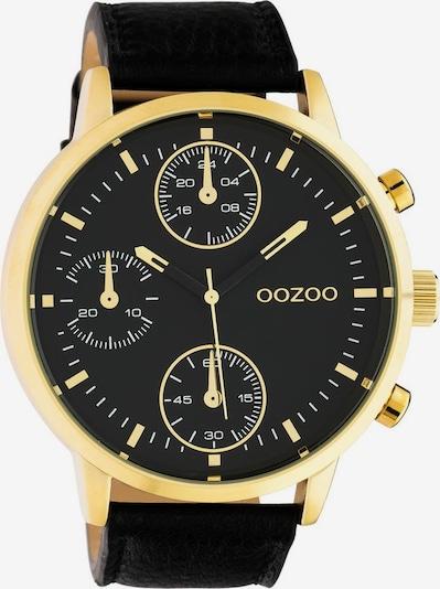 OOZOO Quarzuhr in gold / schwarz, Produktansicht