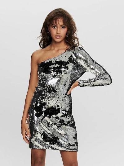 ONLY Kleid 'ONLHOLLY ONESHOULDER SEQUIN DRESS WVN' in silber, Modelansicht