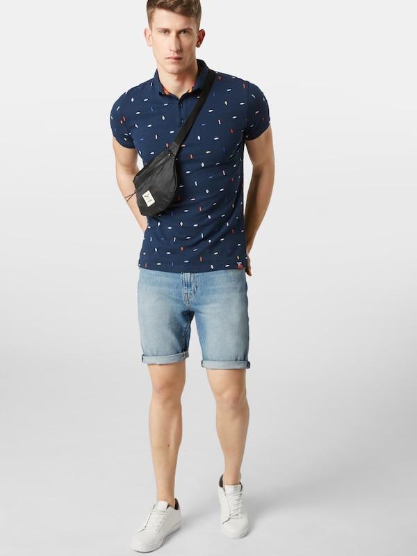T Bleu Superdry Embroidery 'city En shirt Marine Polo' State fv7ybgYI6