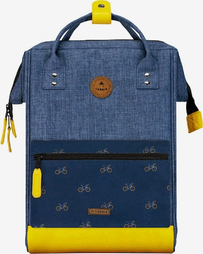 Cabaia Rucksack in blue denim / gelb, Produktansicht