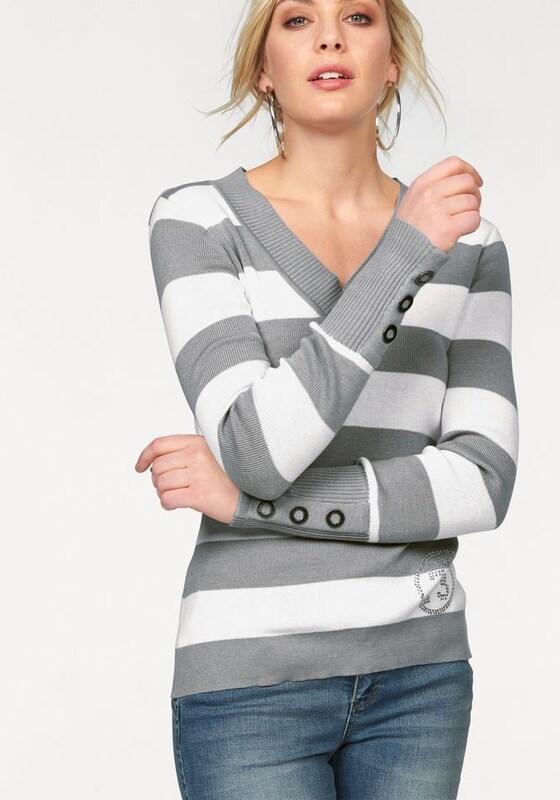ARIZONA V-Ausschnitt-Pullover