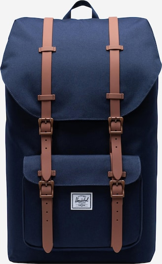 Herschel Backpack 'Little America' in Navy / Brown, Item view